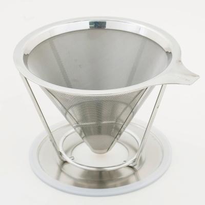 台灣精製#304不鏽鋼 雙層極細網咖啡濾杯(1-2杯)DC-S711