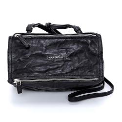 GIVENCHY Pandora 綿羊皮鞣製斜背包(mini/黑色)