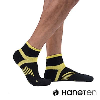 HANG TEN 二分之一氣墊機能襪2雙入組(男)_黃(HT-A33001)