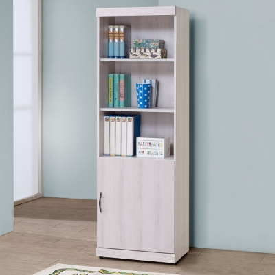 Homelike 莎莉2尺單門書櫃(二色可選)-60x40x183cm