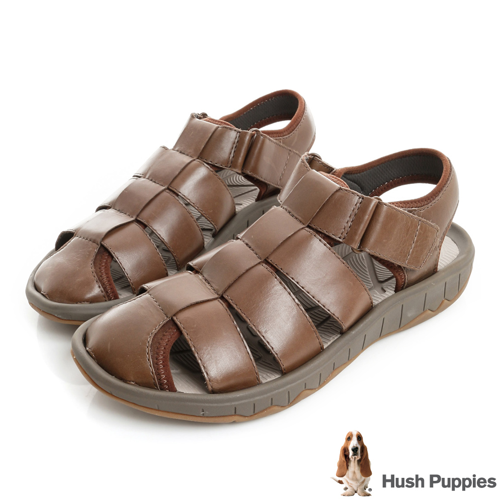Hush Puppies BREEZE 夏日機能羅馬涼鞋-咖啡色