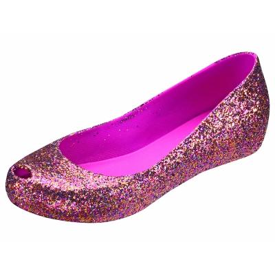 Melissa 絕色星燦魚口鞋-玫晶
