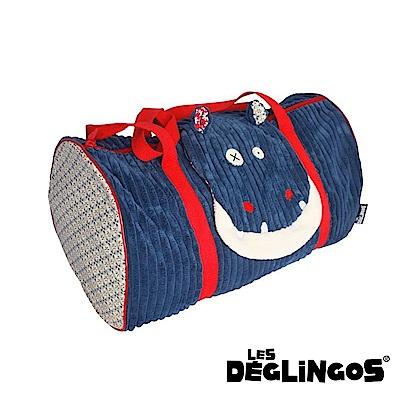 Les Deglingos 立體玩偶旅行側背包(周末休閒包)-河馬 (HIPPIPOS)