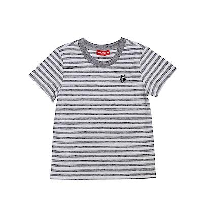 WHY AND 1/2 條紋棉質萊卡T恤 11Y~14Y以上