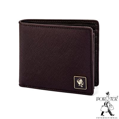 PORTER - 法式時尚BEND多夾層橫式皮夾  - 梅洛紅