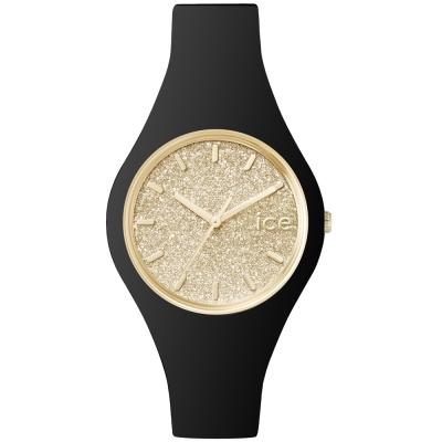 Ice-Watch 璀璨系列 光彩晶鑽手錶 S - 黑x金/38mm