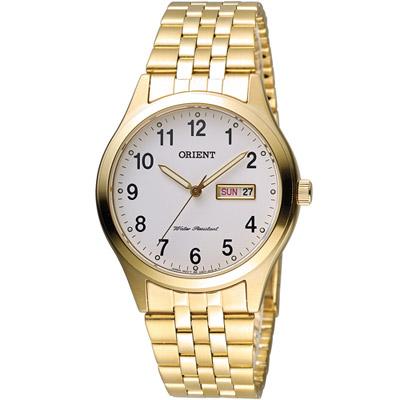 ORIENT 東方 古典優雅紳士腕錶-金色/37mm