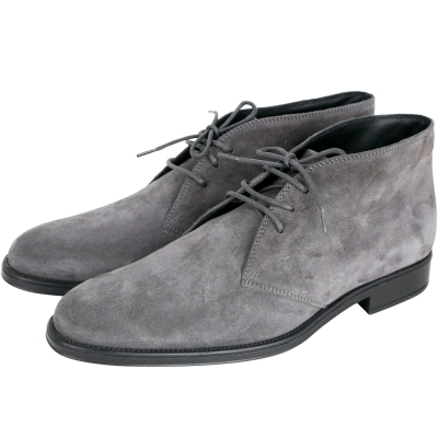 TOD'S Desert 麂皮綁帶休閒踝靴(男鞋/灰色)