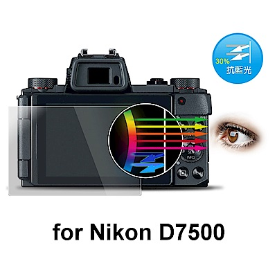 D&A Nikon D7500 相機專用日本抗藍光9H疏油疏水增豔螢幕貼