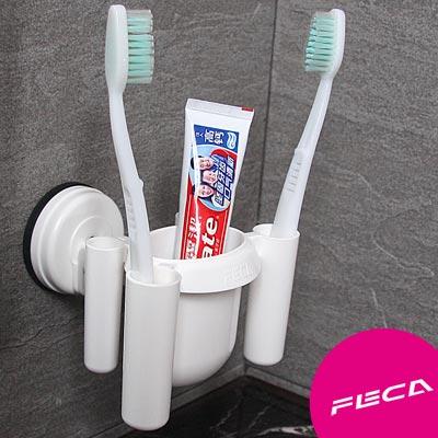 FECA非卡 無痕強力吸盤 牙刷置物架(白)