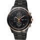 agnes b. 巴黎限定計時手錶(B7A004X1)-鍍黑x玫塊金框/43mm product thumbnail 1