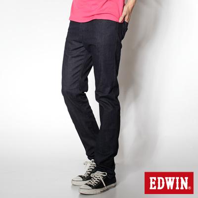 EDWIN 大尺碼 基本五袋微彈高腰中直筒褲-男款(原藍色)