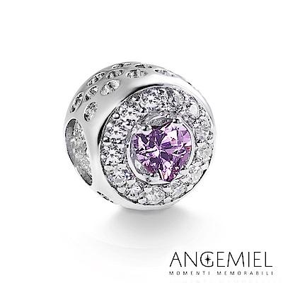Angemiel安婕米 925純銀 串珠 璀璨之心(紫)