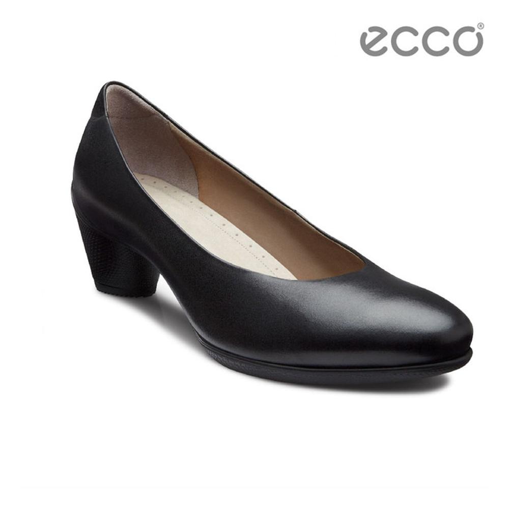 ECCO SCULPTURED 45 優雅正式中低跟鞋-黑