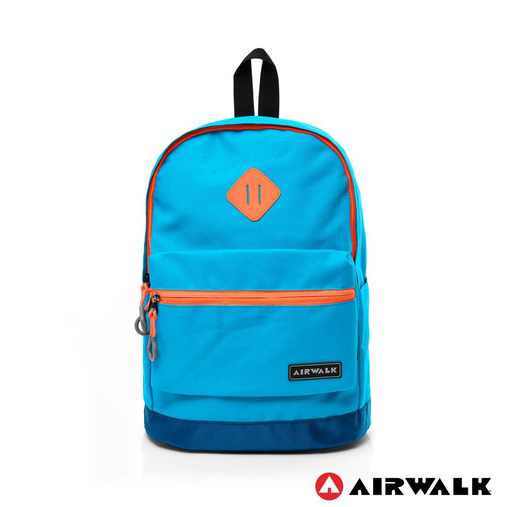 AIRWALK - 彩色甜心系列 拼接撞色後背包 - 桔線天藍