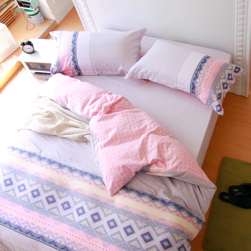 鴻宇HongYew 100%純棉 拉斐爾 雙人四件式兩用被床包組