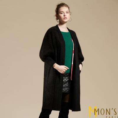 MONS-保暖狐狸絨針織大衣-外套-共三色