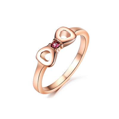 ACUBY 鋼製愛心精鑲戒指