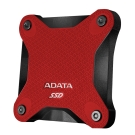 ADATA威剛 SD600 256GB USB3.1 外接式SSD行動硬碟-紅色
