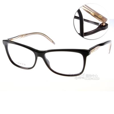 GUCCI眼鏡 立體轉節鏡腳系列/時尚黑色#GG3643 0WM