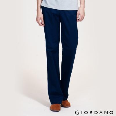 GIORDANO-男裝中腰標準直筒彈性休閒褲-66