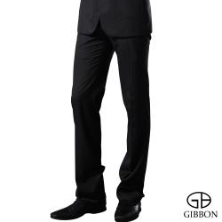 GIBBON 商務沉穩條紋平口西裝褲‧雲灰32~40