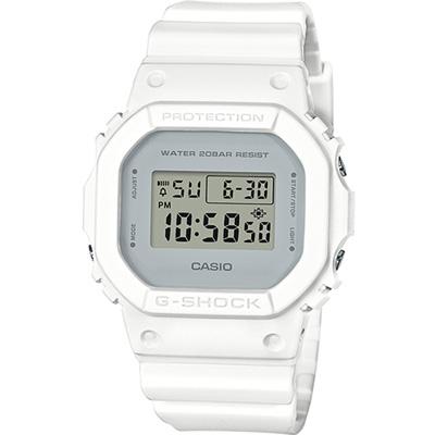 G-SHOCK 經典5600復刻電子錶(DW-5600CU-7)-白/42.8mm