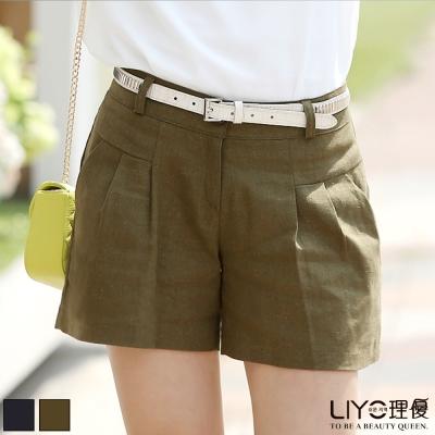 LIYO理優褲子打折休閒短褲-綠-深藍