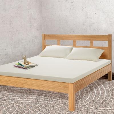 幸福角落 防蹣抗菌比利時進口5cm乳膠床墊-雙人加大6尺