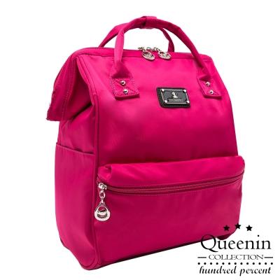 DF Queenin ~ 小資超 尼龍寬口後背包~共4色