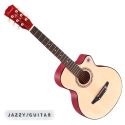 Lanjian系列 38吋,缺角民謠吉他,木吉他,琴袋+背帶+彈片+全配備 (原木色)