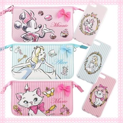 Disney迪士尼迪士尼iPhone 8/7(4.7吋)彩繪軟套+手機袋禮盒-公...