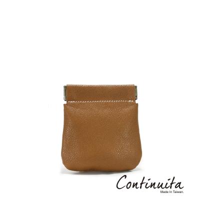 Continuita-康緹尼-MIT-頭層牛皮口袋零錢包-咖啡