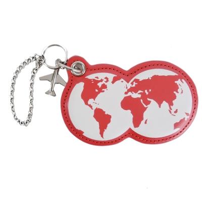 agnes b.地球造型皮革吊飾(紅)