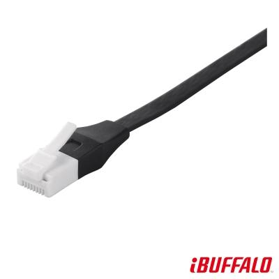 Buffalo 獨家專利水晶頭卡榫反折斷 Cat 6平板網路線(2M)