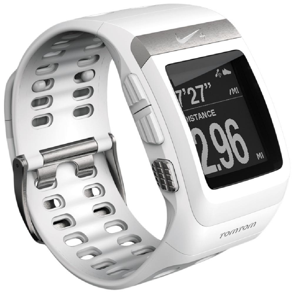NIKE+ SPORTWATCH GPS軌跡記錄運動手錶 - 白 / 銀