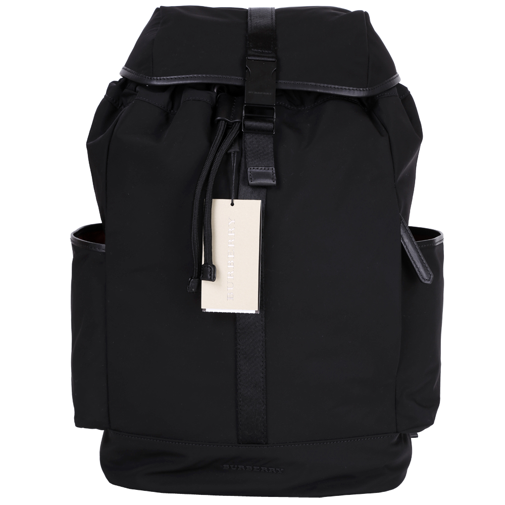 BURBERRY DRIFTON 帆布釦飾後背包(黑色)