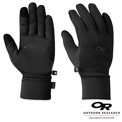 【Outdoor Research】男 PL100 防風透氣彈性保暖手套_黑