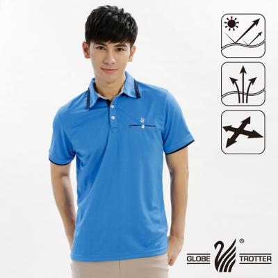【遊遍天下】男款抗UV吸濕排汗機能POLO衫GS10016寶藍