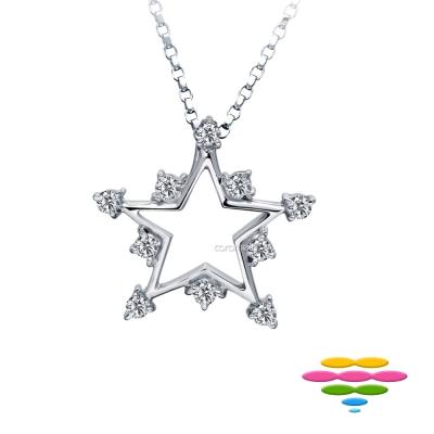 彩糖鑽工坊 18K 星星鑽石項鍊 辰星 etoile系列