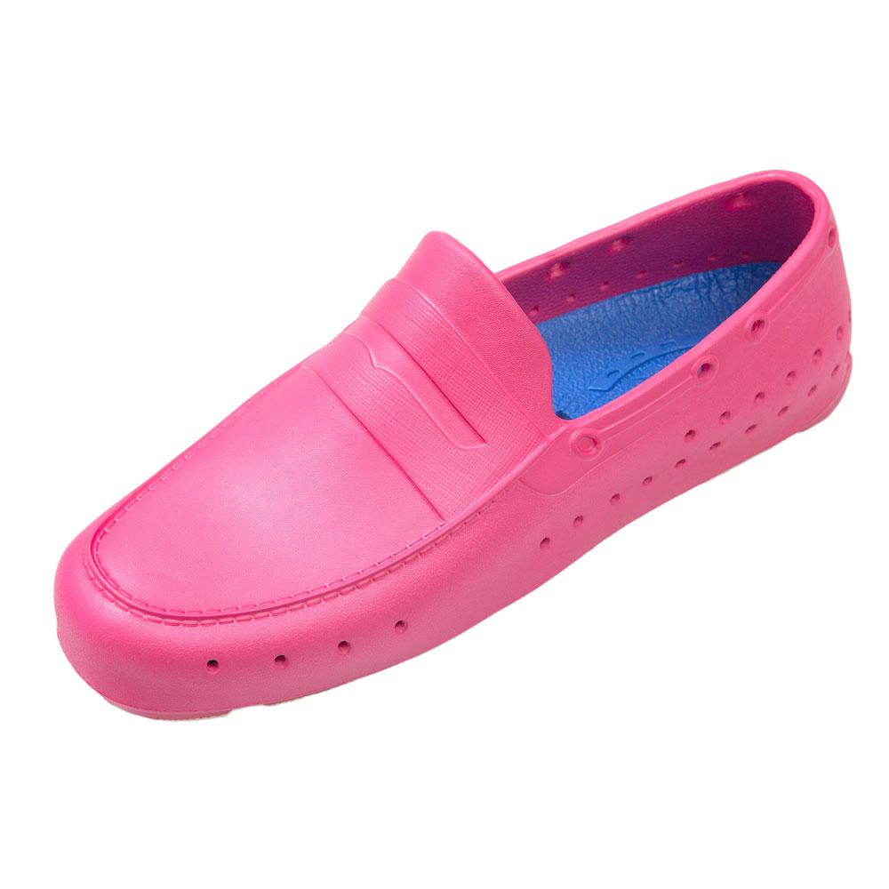 (男/女)Ponic&Co美國加州環保防水洞洞懶人鞋-桃紅色