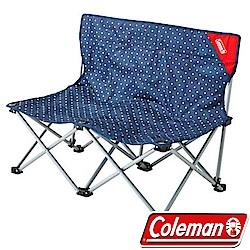 Coleman CM-18277點點藍 休閒情人椅 雙人椅/摺疊椅/折合椅/野餐露營椅