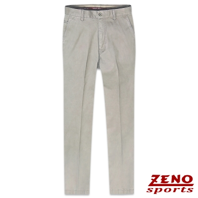 ZENO 高磅數質感彈性無摺休閒長褲‧灰色32~42
