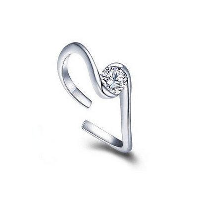 ACUBY 銀製星座守護開口戒指/雙魚