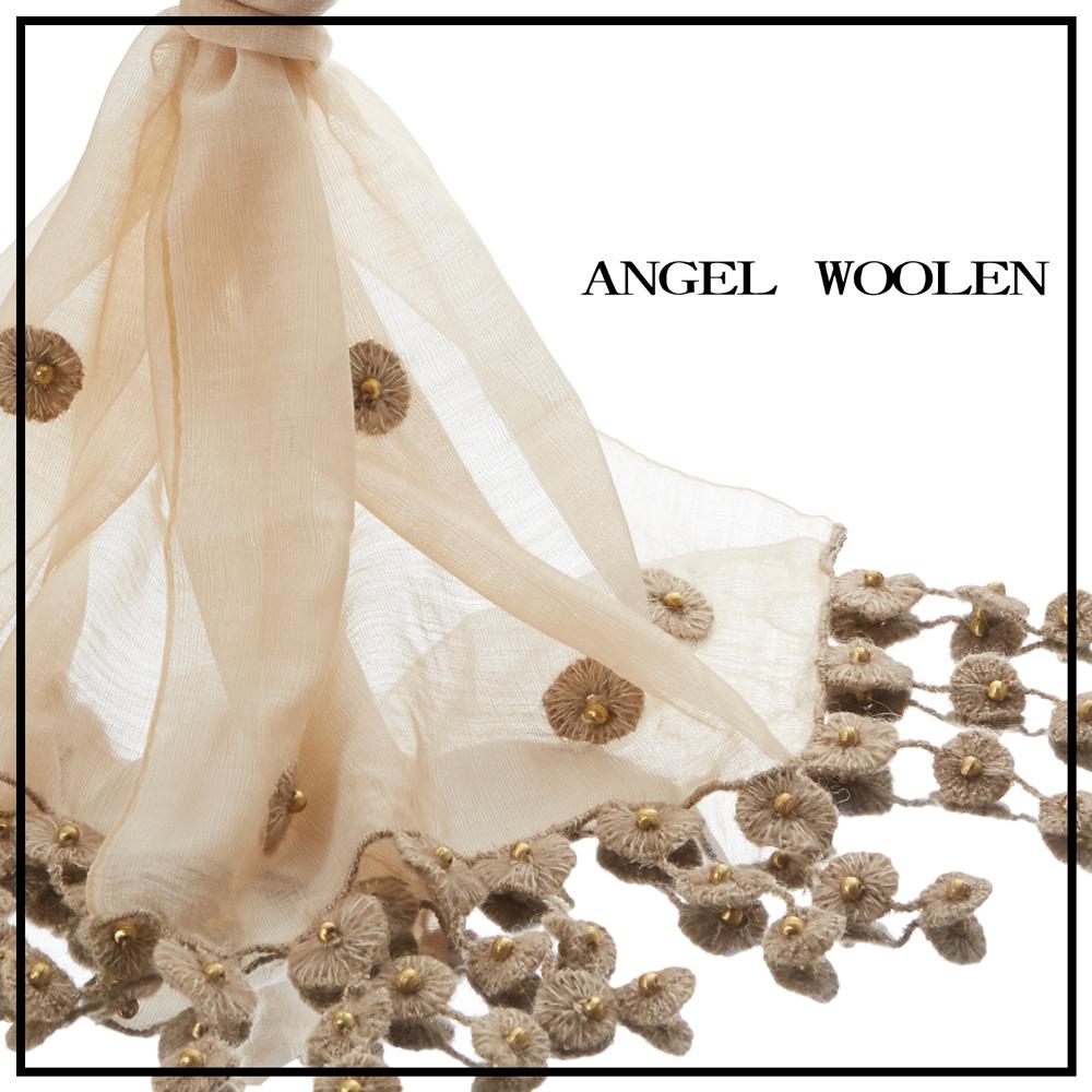 【ANGEL WOOLEN】印度編織藝術絲光羊毛披肩