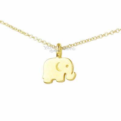 Dogeared美國品牌reminder金色許願項鍊-好運大象