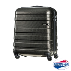 AT美國旅行者 18吋HS MV + Deluxe時尚硬殼飛機輪TSA登機箱(霧黑)
