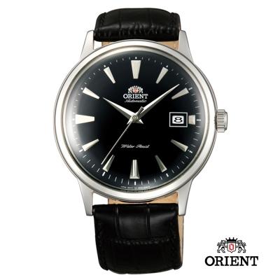 ORIENT 東方錶 DATE II 日期顯示皮帶機械錶-黑/40.5mm