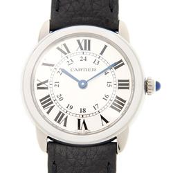 CARTIER RONDE SOLO 經典小型皮帶腕錶(WSRN0019)x29mm