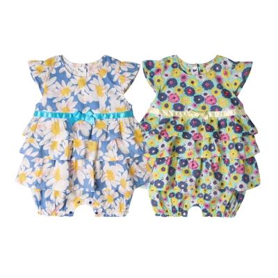 baby童衣 嬰兒包屁裙 滿版碎花小飛袖蛋糕裙 52223